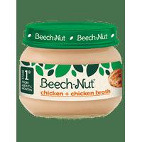 (10 Jars) Beech-Nut Baby Food Jar, Stage 1, Chicken & Chicken Broth, 2.5 oz