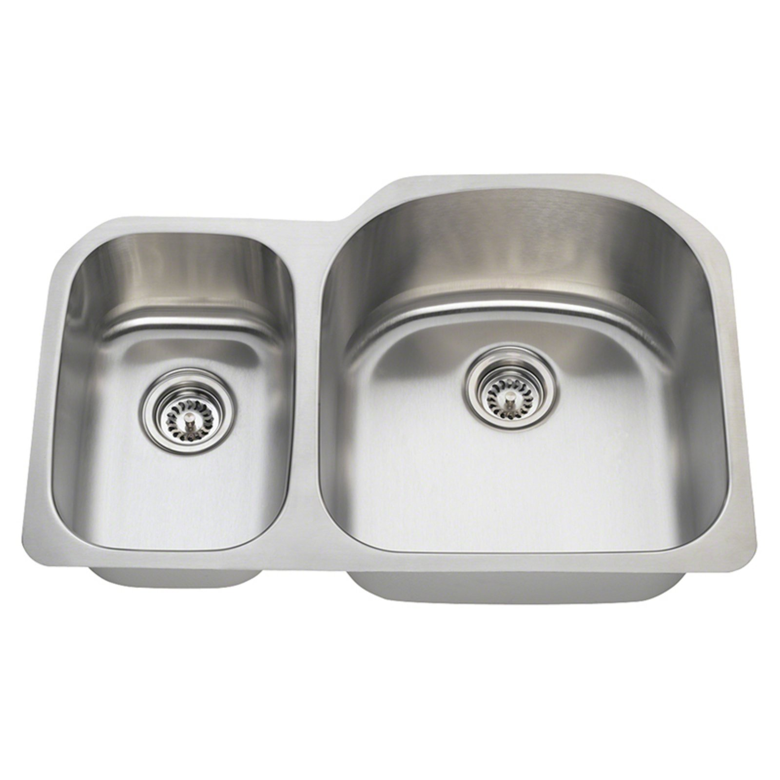 Polaris Sinks PR1213 Double Basin Undermount Kitchen Sink
