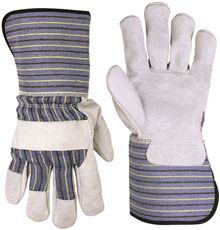 CLC SPLIT LEATHER PALM WORK GLOVES WITH EXTENDED SAFETY CUFF SIZE, X-LARGE