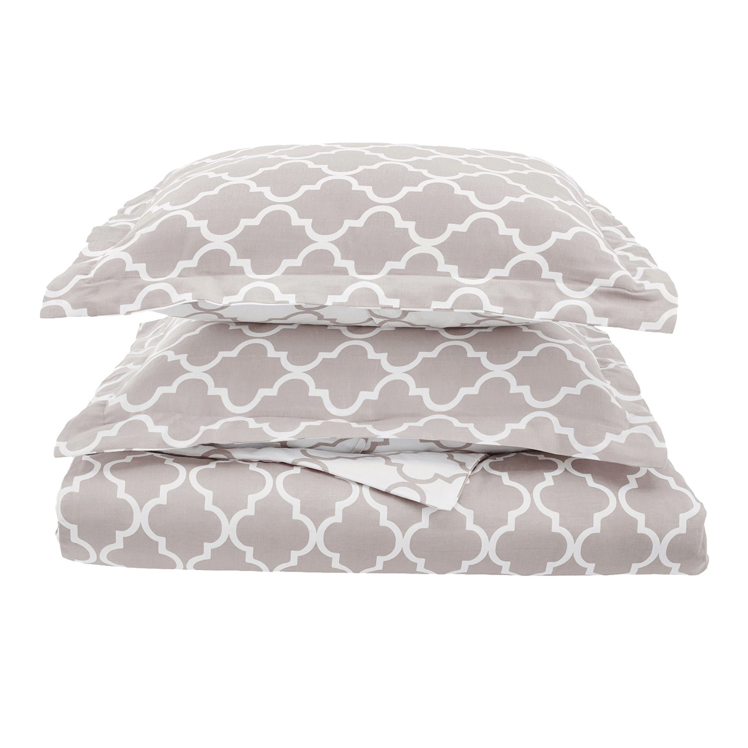 Superior 300 Thread Count Cotton Trellis Reversible Duvet Cover Set