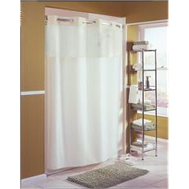 Hookless 3569421 Mystery Shower Curtain Beige 71 X 77 In