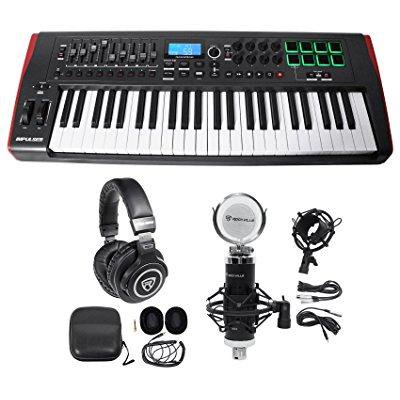 novation impulse 49 key ableton live midi usb keyboard controller headphones mic. Black Bedroom Furniture Sets. Home Design Ideas