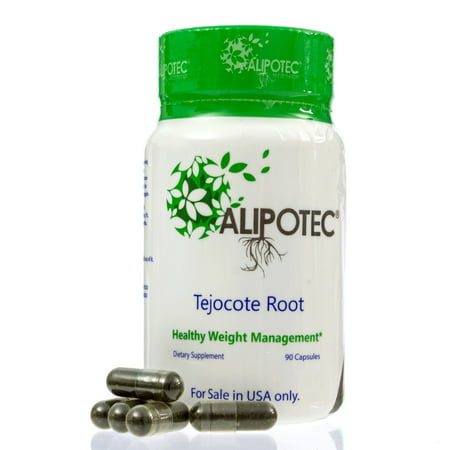 Alipotec Capsules Raiz de Tejocote Root Pill Supplement - 3 Month (2 Shakes A Day Weight Loss Results)