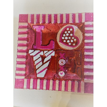 LS Arts Love Plate, Red Pink 8.5
