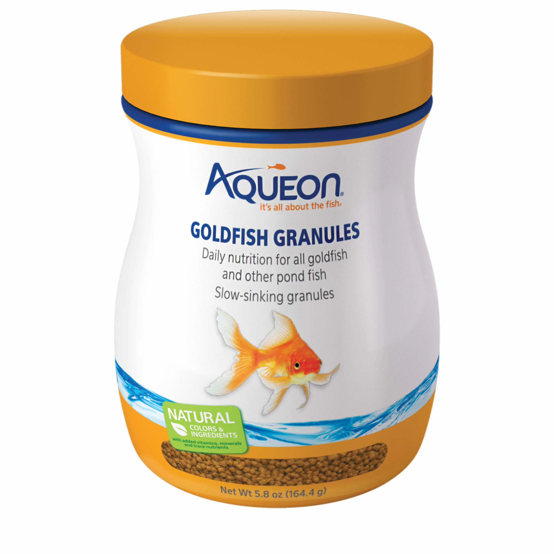(2 pack) Aqueon Goldfish Granules Fish Food, 7.12oz