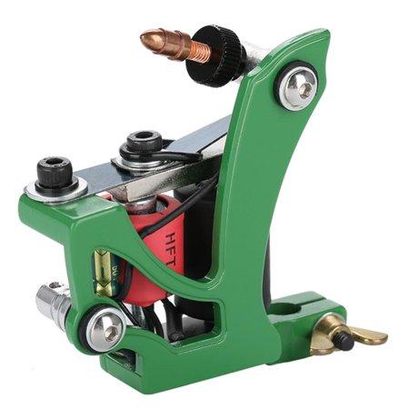 Yosoo Coils Tattoo Machine,Professional Coils Tattoo Machine Lining Shading Tool Green,Tattoo Machine,Liner Shader ()
