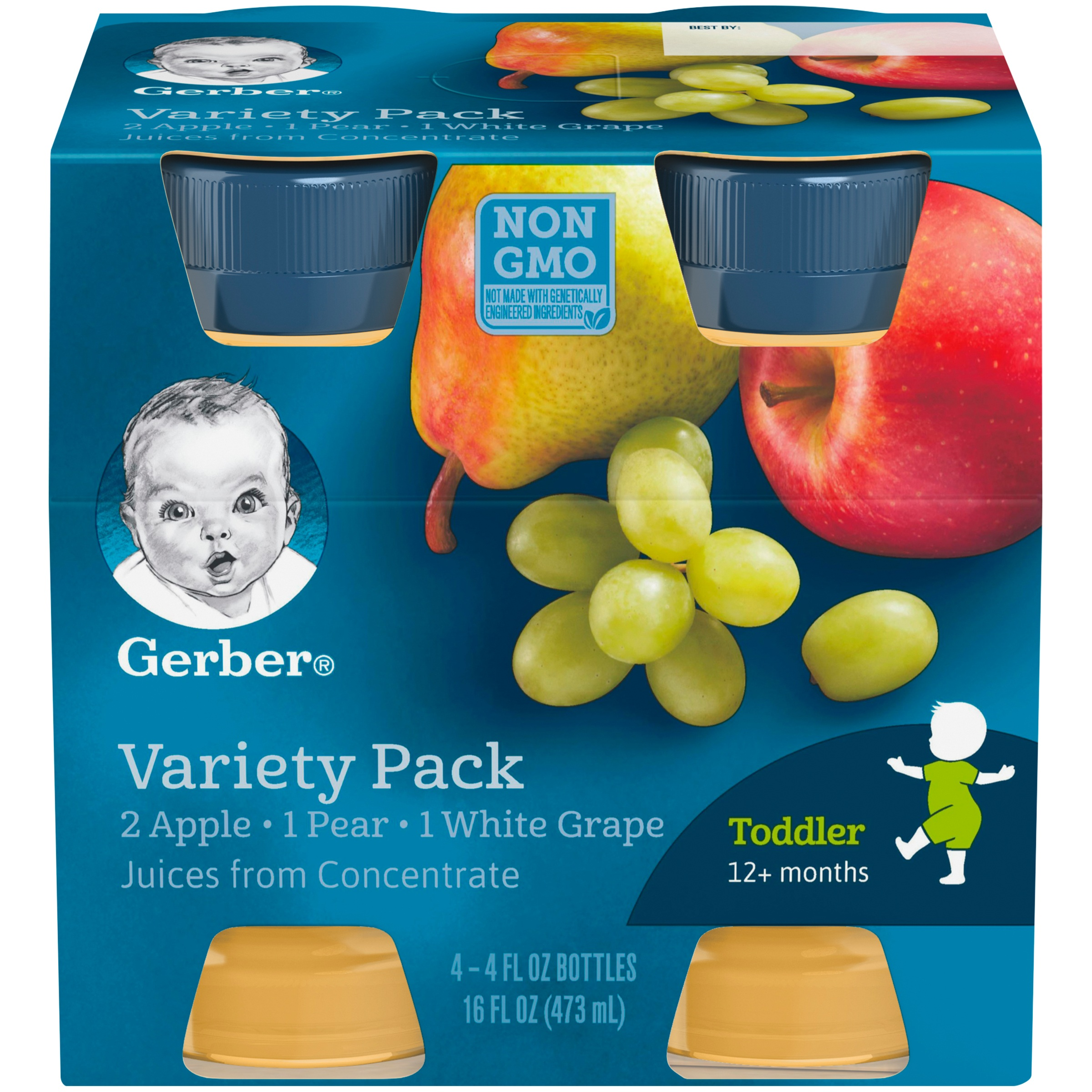 Gerber Fruit Juice Variety Pack 4-4 fl. oz. Bottles