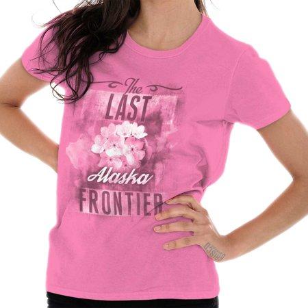 Brisco Brands Alaska Forget-Me-Not Flower AK Adult Tee Shirt For