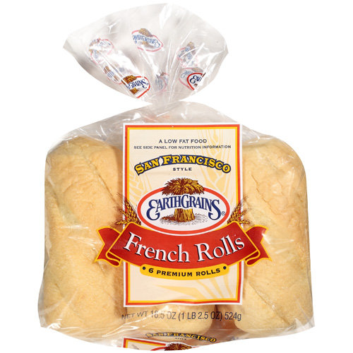 Earthgrains San Francisco Style French Rolls, 18.5 oz