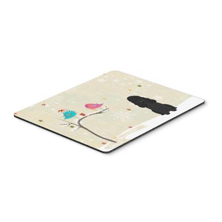 Carolines Treasures BB2543MP Christmas Presents Between Friends Poodle Black Mouse Pad, Hot Pad or Trivet ()