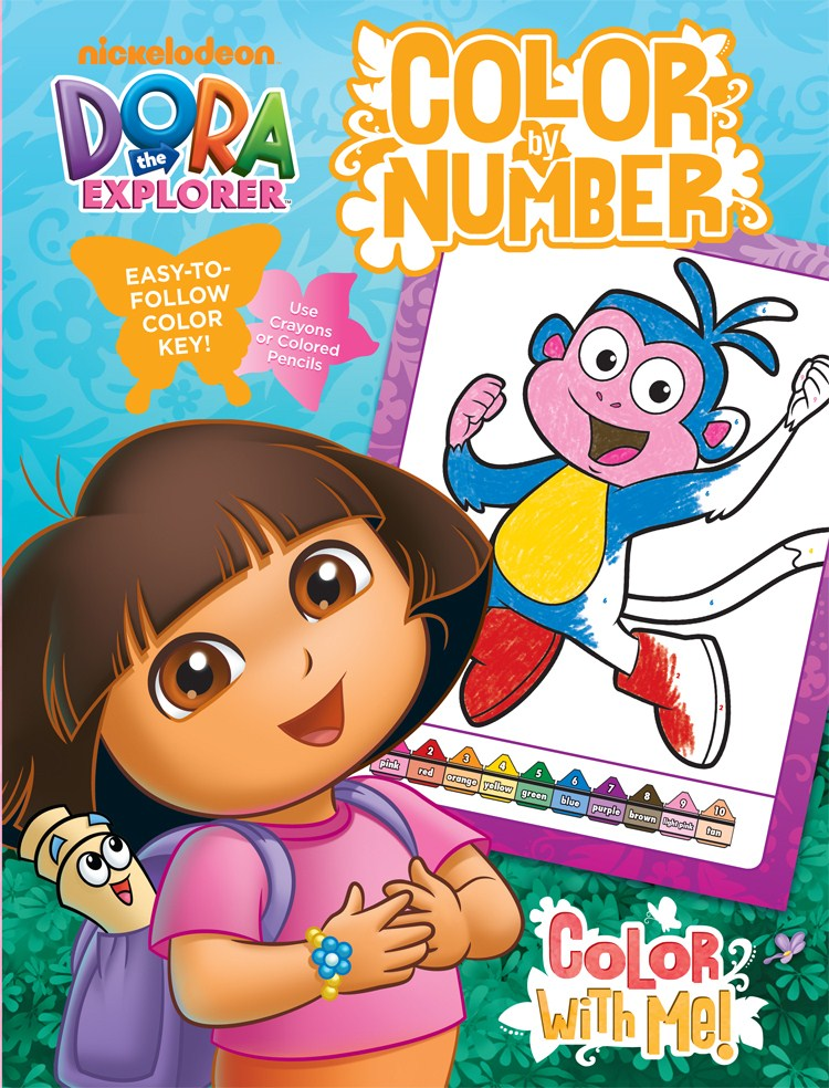 Bendon Publishing International 17768 Dora Color By Number Book With Foil by Bendon Publishing International