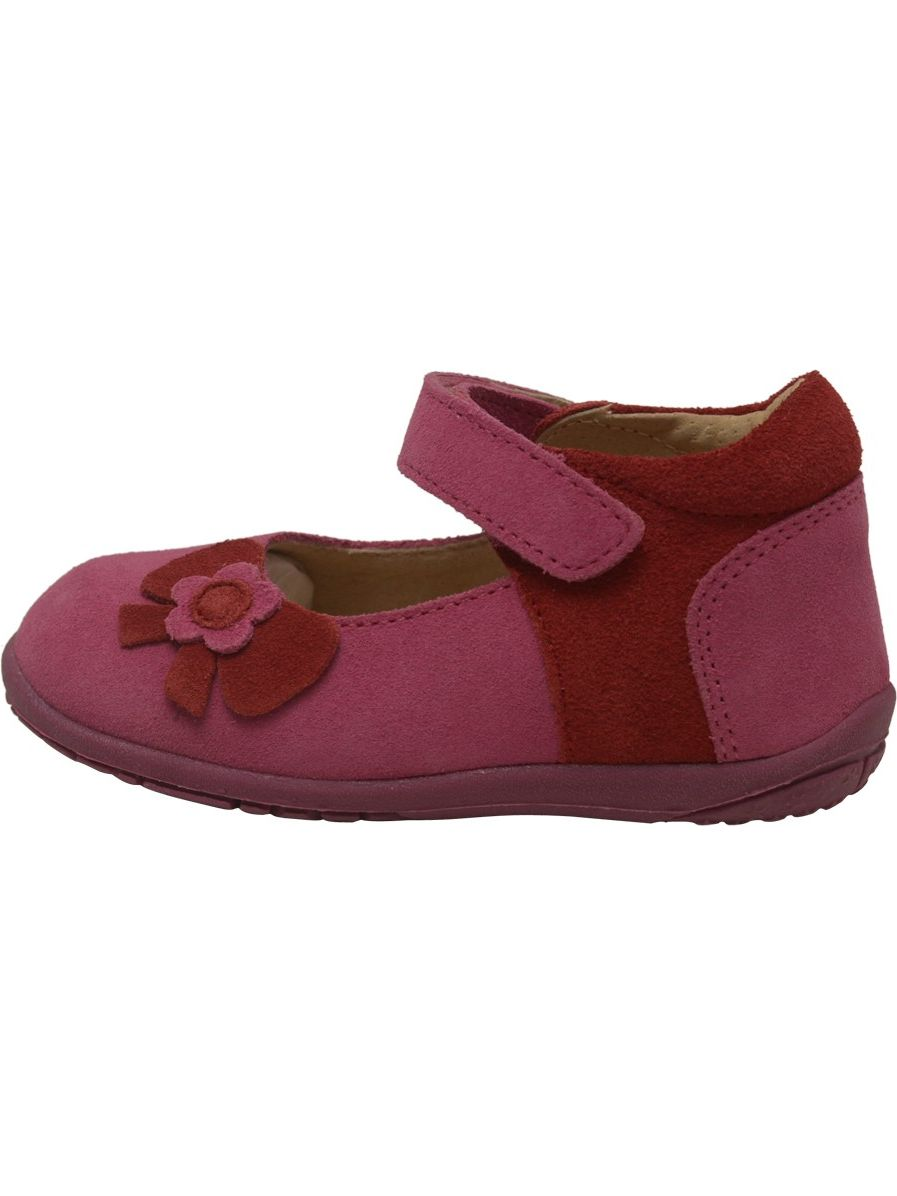 L'Amour Little Girls Fuchsia Nubuck Flower 5-7 Bow Mary Jane Shoes 5-7 Flower Toddler 53d53d