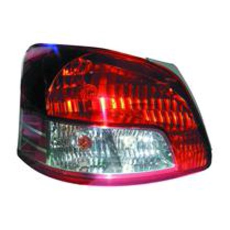 Go-Parts » 2007 - 2012 Toyota Yaris Rear Tail Light Lamp Assembly (Sedan) - Left (Driver) 81561-52550 TO2818133 Replacement For Toyota Yaris