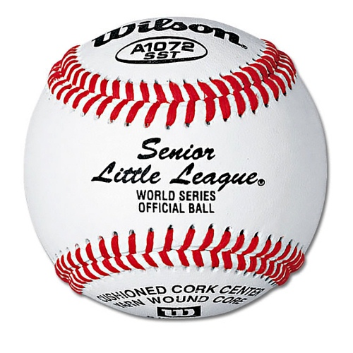 Wilson Sr Little League Tournament Baseballs 1 DZ WHITE/RED STITCH 1 DOZEN