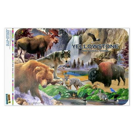 Yellowstone National Park Wyoming Montana Idaho Animals Wolf Bear Fox Bison Home Business Office Sign