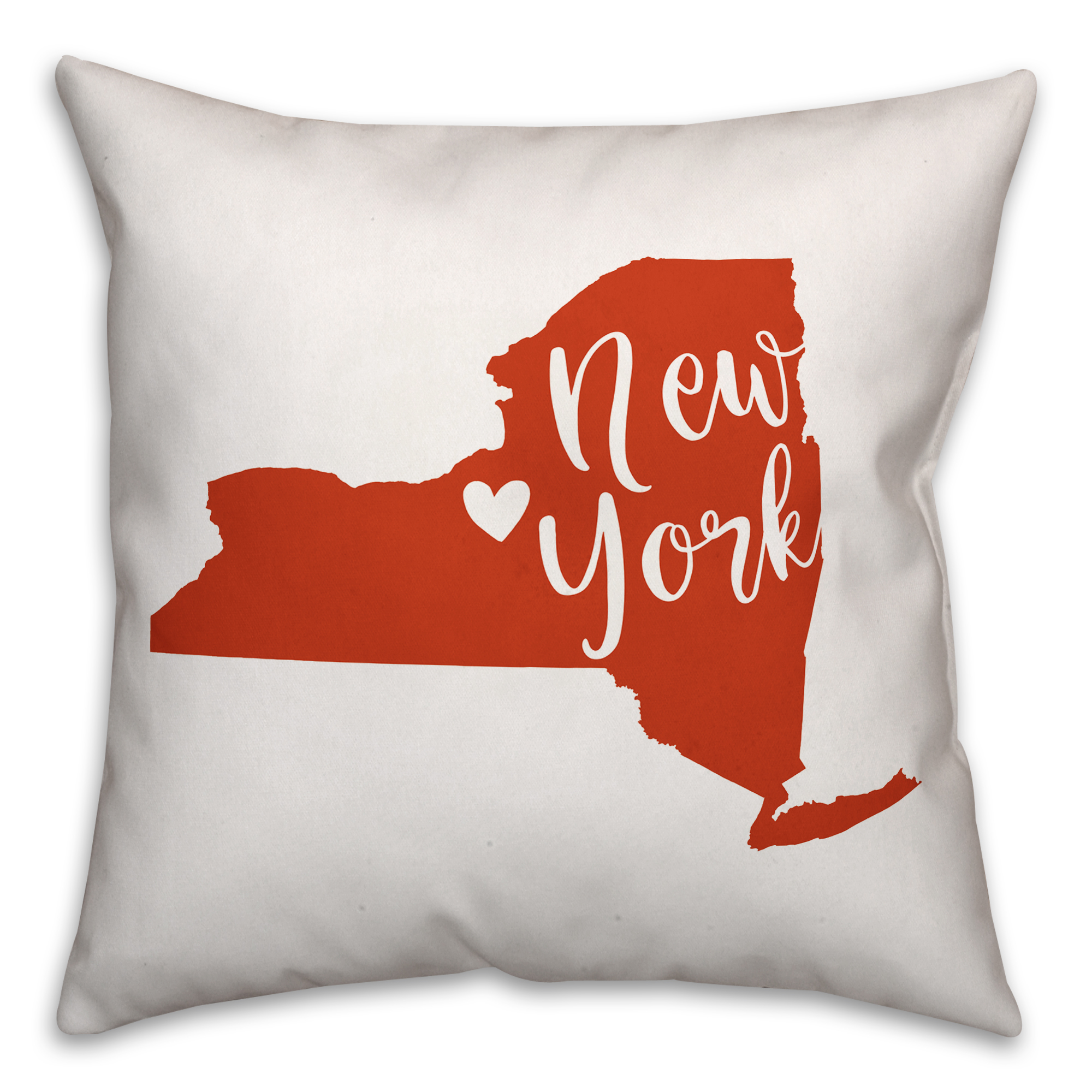 Orange and White New York Pride 16x16 Spun Poly Pillow