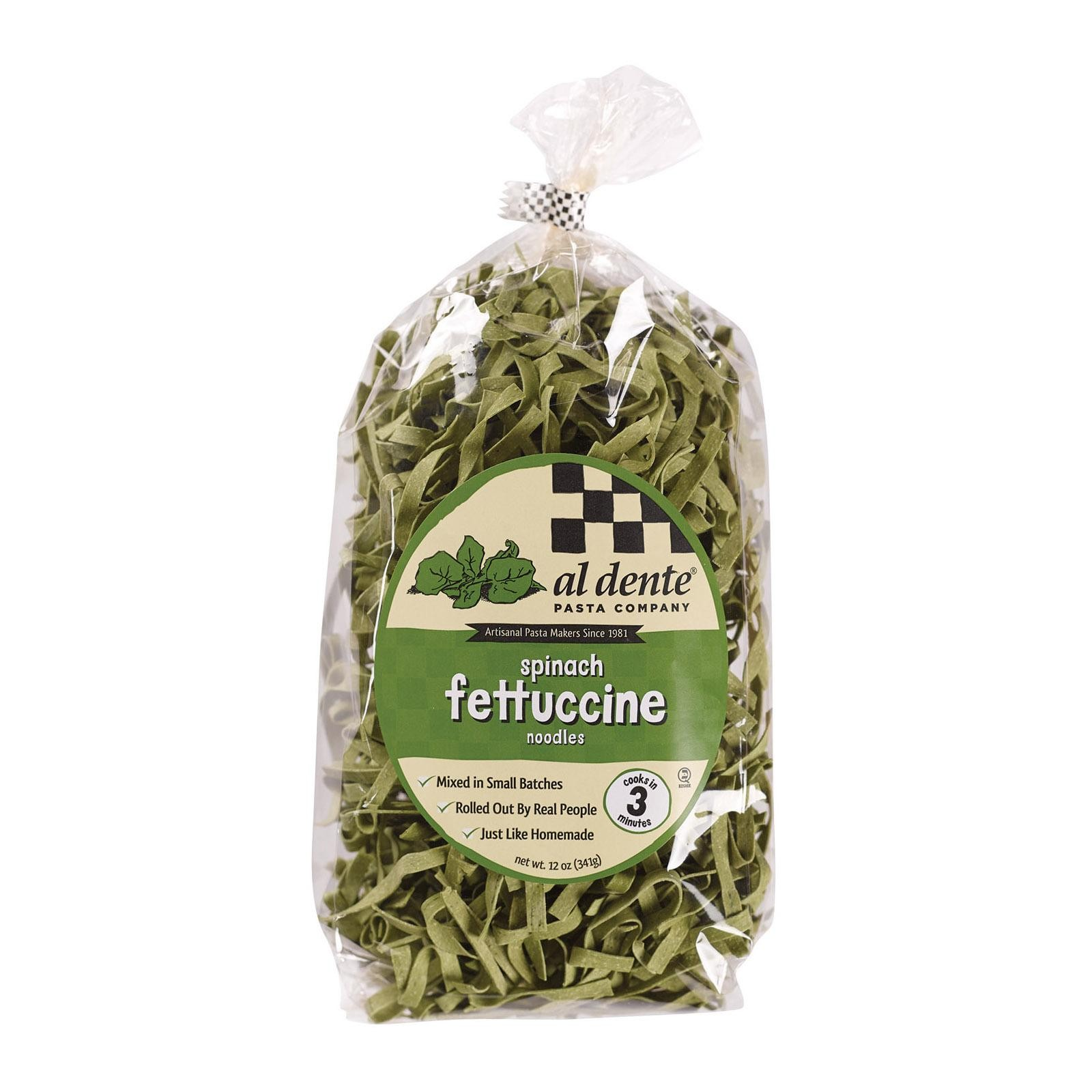 Al Dente Fettuccine - Spinach - Pack of 6 - 12 Oz.
