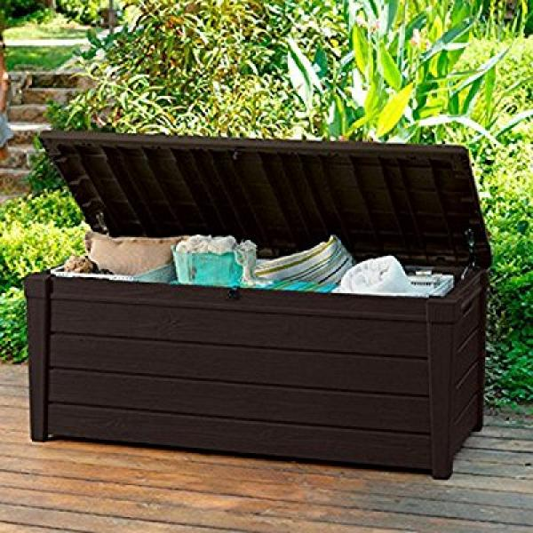 Pool Deck Storage Box and Bench is 2 in 1 Multifunctional...