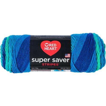 (Red Heart Super Saver Yarn Cool Stripe)