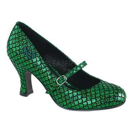 Women's Green Mermaid Heels - Mermaid Shoes