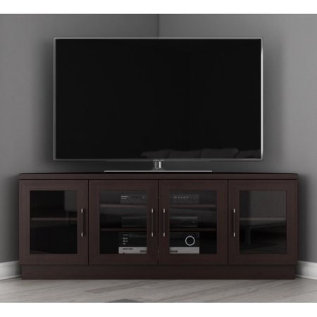 furnitech 60 in contemporary tv entertainment corner. Black Bedroom Furniture Sets. Home Design Ideas