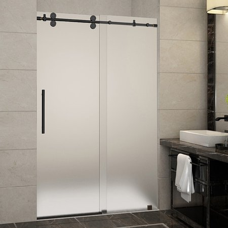Aston Langham 48 X 75 Single Sliding Frameless Shower Door