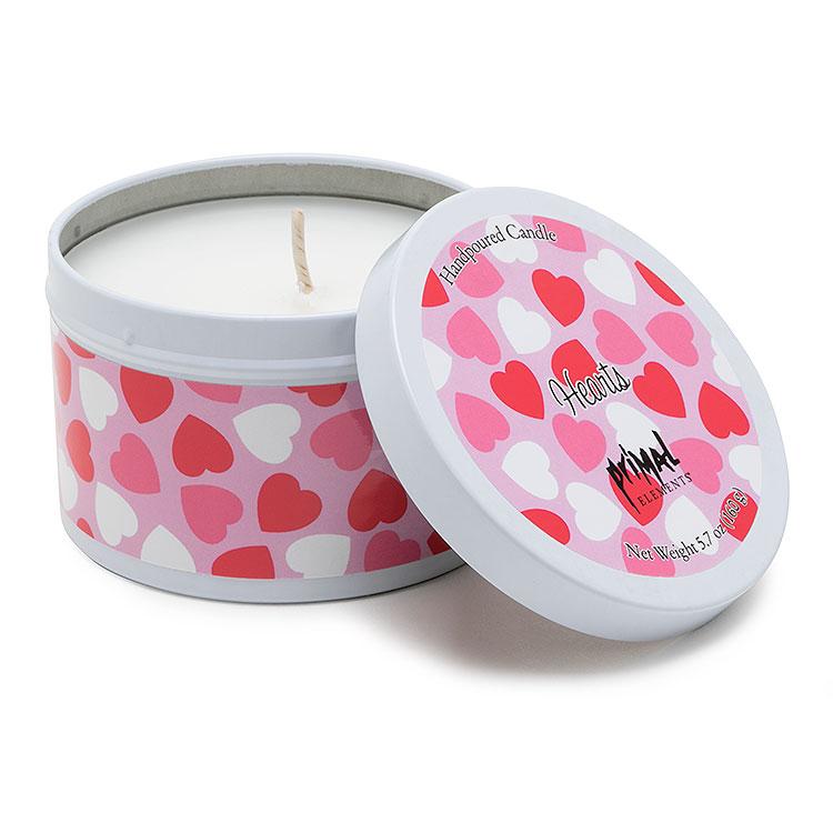 Hearts 5.7 oz Tin Candle