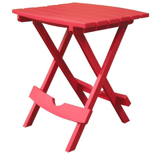 Adam Mfg. 8500-26-3700 Quik-Fold Side Table - Cherry Red