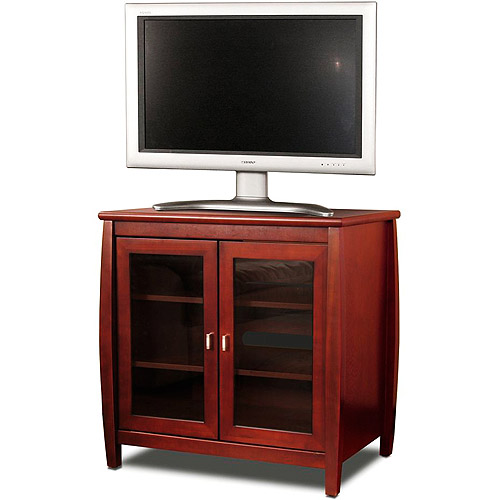 """TechCraft Solid Walnut Wood and Veneers TV stand, for TVs up to 37"""""""