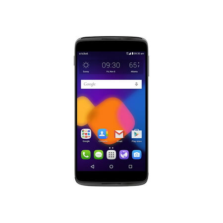 cricket wireless alcatel onetouch idol 3 16gb prepaid smartphone, dark gray