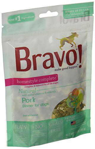 Bravo Homestyle Freeze Dried Dinner Pork Food, 3 oz. by