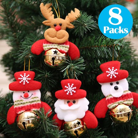 christmas bells decorations for home 8 pcs set christmas tree ornaments snowmanold - Christmas Bells Decorations