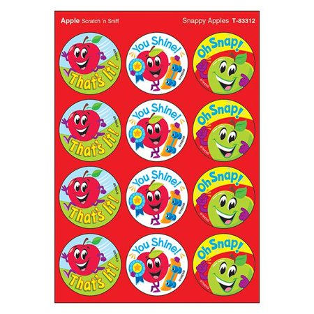Trend Enterprises T-83312 1.25 in. Snappy Apples & Apple Scratch N Sniff Stinky Stickers, Large