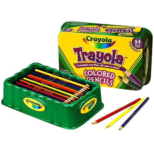 Crayola 54-Count Trayola Colored Pencils