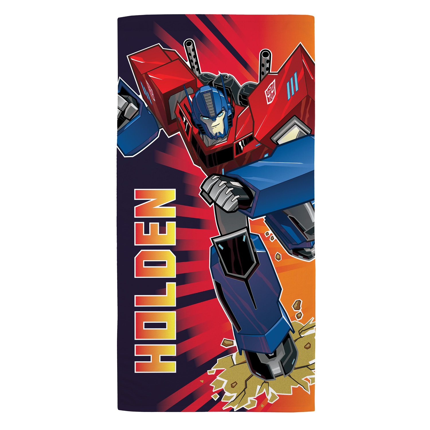 Personalized Kids Beach Towel - Transformers Robots in Disguise Optimus Prime