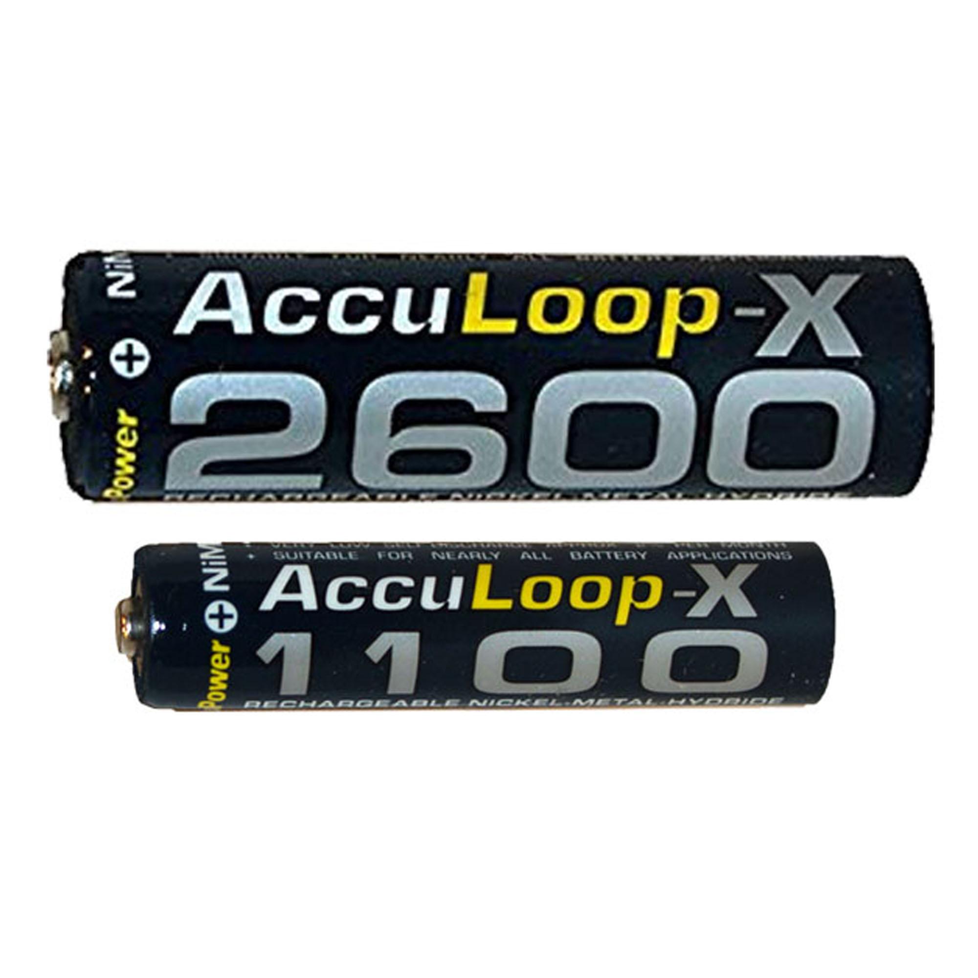 8 x AAA (1100 mAh) + 8 x AA (2600 mAh) AccuPower AccuLoop-X NiMH Battery Combo - image 1 de 1