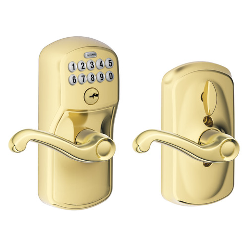 Schlage Flair Keypad Lever with Plymouth Trim