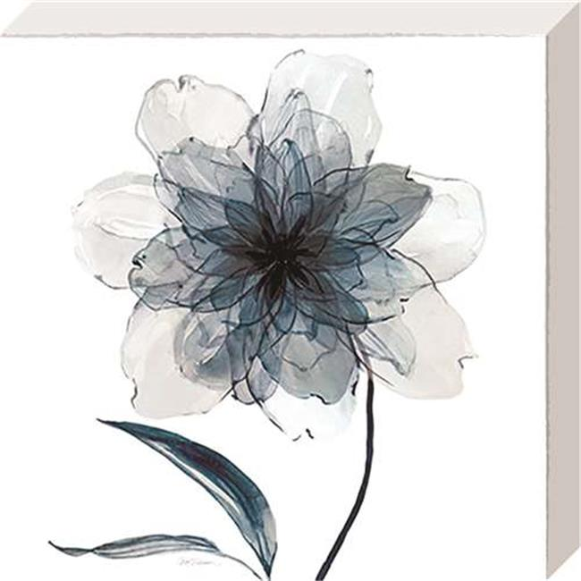 North American Art NC1100 10 x 10 in. Indigo Bloom II Canvas Gallery Wrapped Art Print