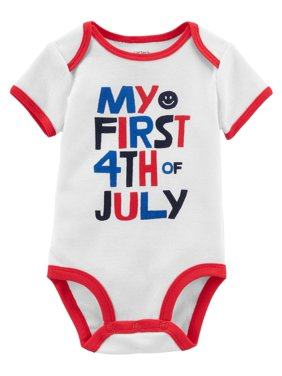 317bdbb0 Product Image Carter's Baby Boys' 4th Of July Collectible Bodysuit, 12  Months