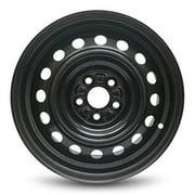 """Road Ready 15"""" Steel Wheel Rim for 2009-2020 Toyota Corolla 15x6 inch Black 5 Lug"""
