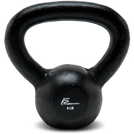 (ProSource Solid Cast Iron Kettlebells Weights for Full Body Workout, 5 to 45 lbs)