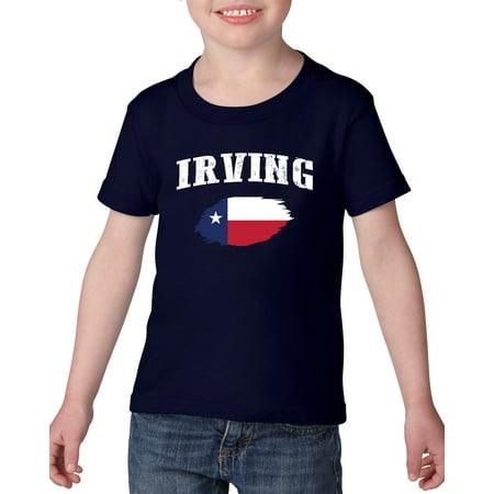 Irving Texas Heavy Cotton Toddler Kids T-Shirt Tee Clothing - Halloween City Irving Texas