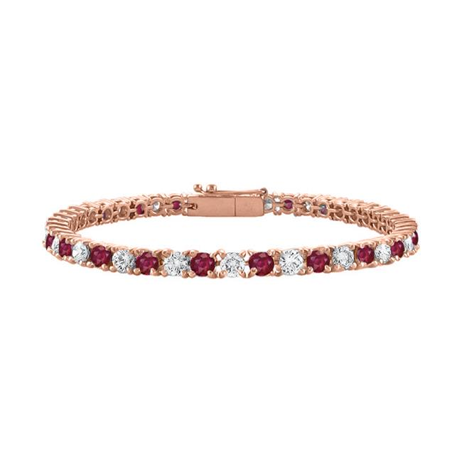 FineJewelryVault UBUBRAGVRRD131200CZR Created Ruby and Cu...