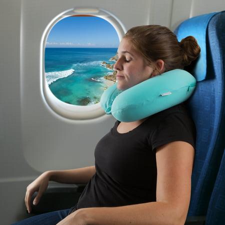 Lavish Home Memory Foam Travel Pillow With Gel That