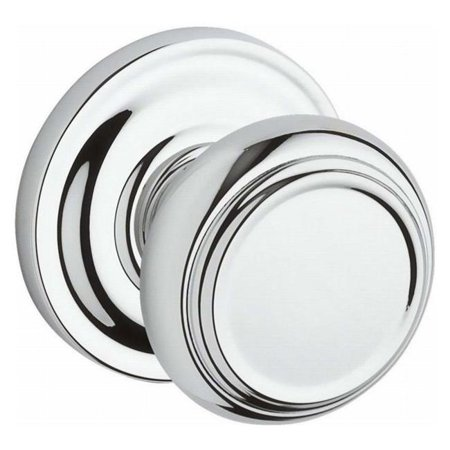Baldwin FD.TRA.TRR.260 Full Dummy Traditional Knob & Traditional Round Rose, Bright Chrome - image 1 of 1
