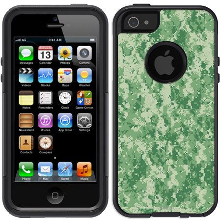 Skin Decal For Otterbox Commuter Apple Iphone Se Case   Digital Camo Green