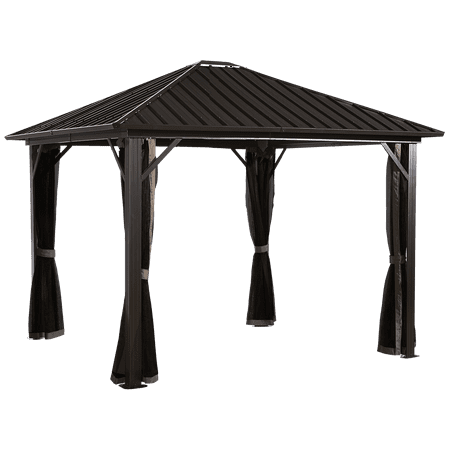 Sojag GENOVA 10' x 10' Gazebo, Galvanised Steel Roof & Mosquito Netting, Available in Multiple Sizes ()