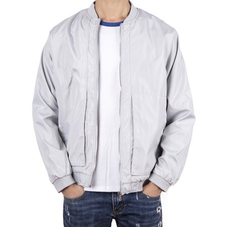 LELINTA Mens Winter Jackets Casual Bomber Jacket Work Coat Outerwear Grey, Up to Size (Best Winter Work Gear)