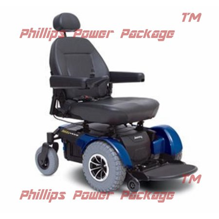 Jazzy Power Wheelchairs (Pride Mobility - Jazzy 1450 - Heavy Duty Power Chair - Jazzy Blue - PHILLIPS POWER PACKAGE TM )