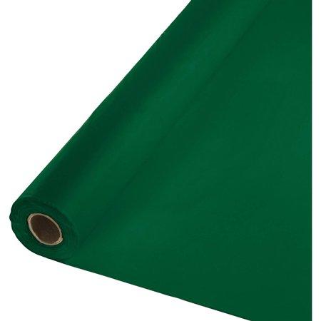 Hunter Green Plastic Banquet Roll, each